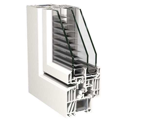 Fenster mit integriertem Sonnenschutz