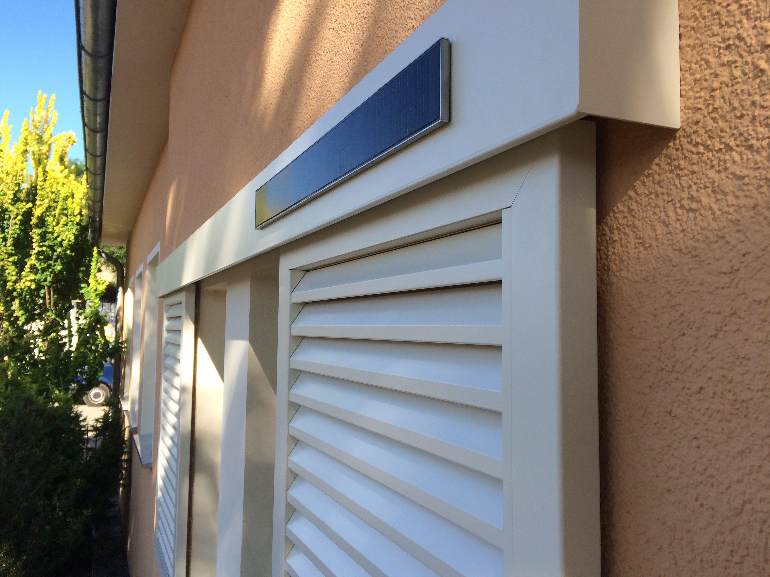 Solarbetriebene Fensterläden